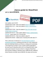 Configure Kerberos for SharePoint 2013