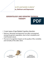 The Three D's and Suicide in Elderly