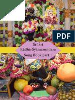 Śrī Śrī Rādhā-Śyāmasundara Song Book Jan 2019