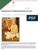 Disappearance of Raghunatha Bhatta Gosvami