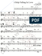 I Can't Help Falling in Love - D - Concert Lead Sheet 9.18.19