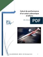 Calcul de Performance d'Un Avion Subsonique d'Affaire