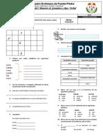 Examen Mensual de Gramática - Raz. Verbal