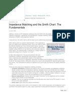 Impedance Matching Smith Chart Fundamentals