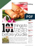 101 Things to Taste Before You Die
