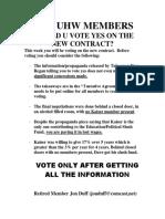 Leaflet to SEIU-UHW Members at Kaiser on Regan's Stealth 'Partnership Tax:' Oct. 2019