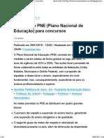 Resumo Do PNE (Plano Nacional de Educação) Para Concursos