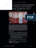 A Polycromatic Composite Layering Approach for Solving a Complex Class IV Direct Venner Diastema Combination Part 1