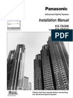 Panasonic KX-T308 Installation Manual