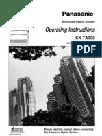 Panasonic KX-TA308 Operating Instructions