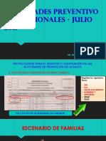 His Actividades Preventivo Promocionales 07-2019