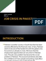 Job Crisis in Pakistan