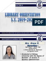 Library Orientation 2019