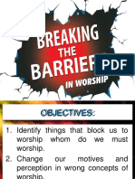 Breaking the Barries in Worship
