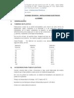 Especificaciones tecnicas_ Instalaciones Electricas