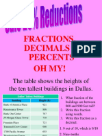 fractions and ratio, percent ppt