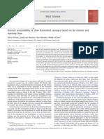 Aceptabilidad Sensorial de Salchichas de Fermentación Lenta Basadas en El Contenido de Grasa y El Tiempo de Maduración.