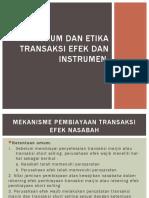Hukum Dan Etika Transaksi Efek Dan Instrumen