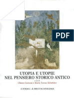 Utopia e Utopie Nel Pensiero Storico Antico