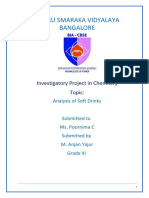 Chemistry Project Class 12 cbse Investigatory Project on Analysis of Soft drinks