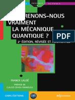 (Savoirs Actuels) Franck Laloë - Comprenons-nous Vraiment La Mécanique Quantique _-EDP Sciences _ CNRS Éditions (2017)