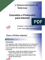 Slides 06 - Conceitos e Protocolos Para Internet