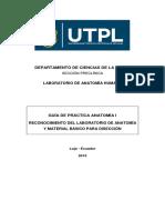 Guia Morfo i.1 Reconocimiento de Laboratorio de Anatomía y Material Básico Para Disección