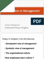 Organisation Culture in Management