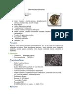 Minerales Haluros de Plomo