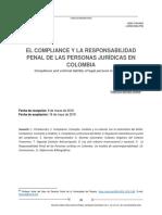 S.8. Bernate - El compliance y la responsabilidad penal de las persona jurídicas en Colombia.pdf