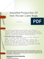 industrial production of nonwoven bags