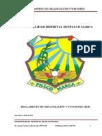 PLAN 12004 Reglamento de Organización y Funciones 2011