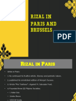 Rizal in Paris and Brussels