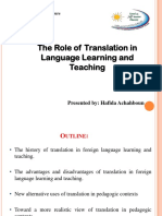 translation in foreign language learning and teaching