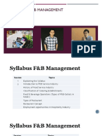 Syllabus F&B Concentration