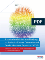 School-related Violence and Bullying On the Basis of Sexual Orientation and Gender Identity or Expression (SOGIE)