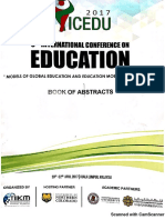 ICEDU 2017 Extract From Book of Abstracts