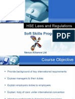 HSE Laws and Regulations