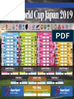 2019 Rugby World Cup fixtures