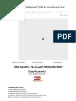 Final Accounts_ Trading and Profit & Loss Account and Balance Sheet