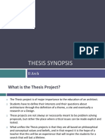 Synopsis Format
