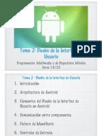 PMDM - Tema 2 - Diseño de la Interfaz de Android