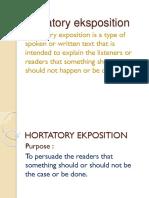 Hortatory Eksposition.pptx Tugas Fitri.pptx Lebih Benar