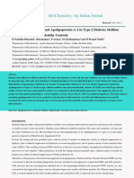 Study of Lipid Profile and Apolipoprotein a1 in Type 2 Diabetes Mellitus Subjects and Normal Healthy Controls