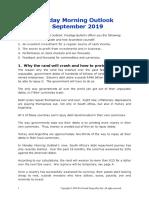 Monday Morning Outlook 2 September 2019