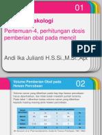 FKL I. P-4 Prak.perhitungan Konversi Dosis Pada Hewan Uji