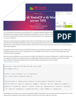 Installazione di VestaCP e WordPress su un server VPS