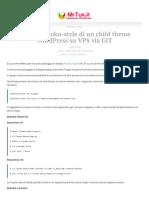 Deploy Heroku-style di un child theme WordPress su VPS via GIT