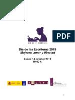 """Textos Definitivos """"Día de las Escritoras"""" 2019"""