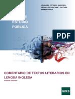 Comentario de Textos Literarios en Lengua Inglesa